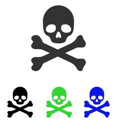 death flat icon vector image