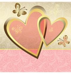 Delicate valentine frame vector
