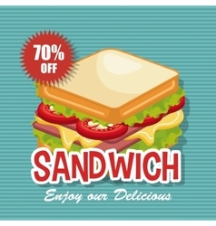 Delicious sandwich isolated icon design vector