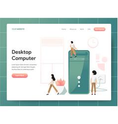 desktop computer concept modern design concept vector image