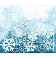 Diamond snow vector