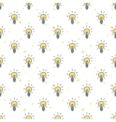 Doodle style hand drawn light bulbs vector
