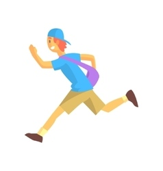 Express Mail Postman Guy Running vector