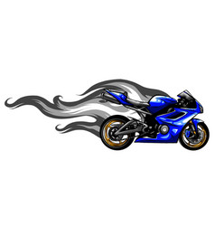 fiery sports motorbike racer variation vector image
