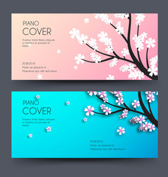 floral branch horizontal banners concept vector image