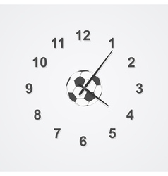 football clock vector image