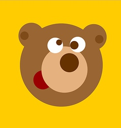 Fun cartoon bear head vector
