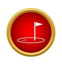 Golf game icon simple style vector