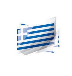 greece flag on a white vector image