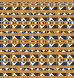 hand drawn ethnic patterns stripes gold brown vector image