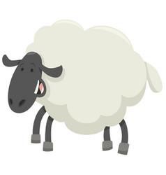 Happy sheep animal character vector