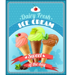 Ice Cream Poster vector