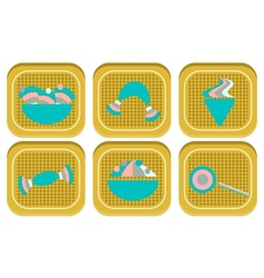 Icon of sweats on dotted background vector image