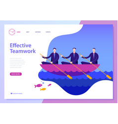 Landing page for website vector