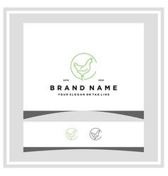 Letter c chicken logo design concept vector