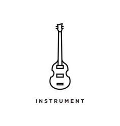 line art violin viola fiddle cello bass music vector image