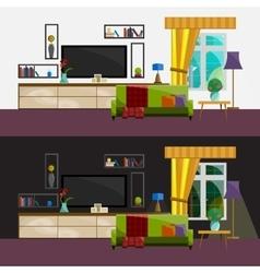 Living room Interior Modern flat design vector image