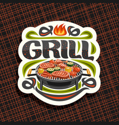 Logo for grill vector