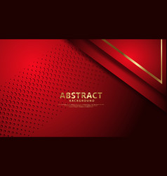 Luxury dark red overlap layers background vector