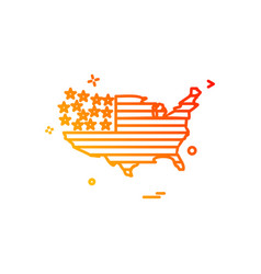 map america icon vector image