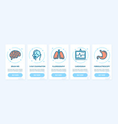 medical diagnostics app screens web banners cards vector image