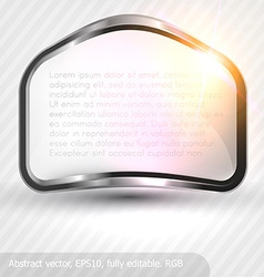 Metal Banner Background vector image