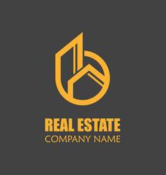 Modern real estate logo template creative home vector