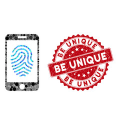 Mosaic mobile fingerprint authorization with vector