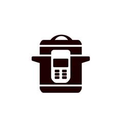 multi cooker glyph icon slow cooker crock pot vector image