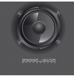 Music speakers background vector