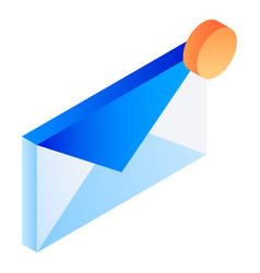 new email icon isometric style vector image