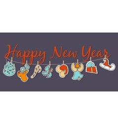 New year banner cozy new year poster set vector