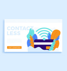 nfc payment and credit card stock isolated vector image