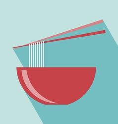 Noodle icon vector