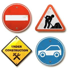 Old Road Signs vector image
