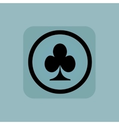 Pale blue clubs sign vector image