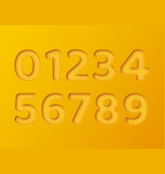paper cut numbers with dotted pattern 3d paper vector image