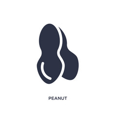 Peanut icon on white background simple element vector
