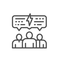 People with speech bubble business meeting vector