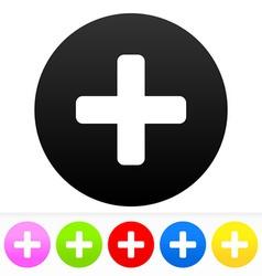 Plus Symbol Set vector image vector image