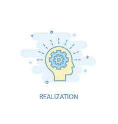 Realization line concept simple line icon vector
