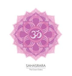 Sahasrara chakra icon vector