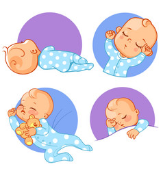 set of baby stickers emoji vector image