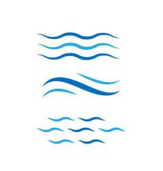 Set water wave icon design logo template vector