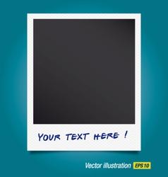 Snapshot polaroid photo vector