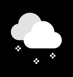 Snow fall and clouds merry christmas icon set vector