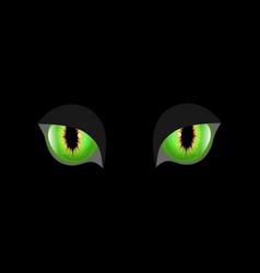 Spooky eyes of animal eyes vector