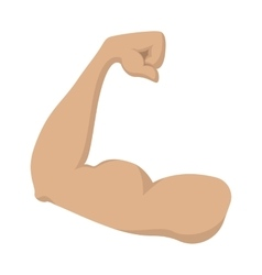 Strong biceps cartoon icon vector