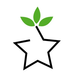 Symbol for ecological balance vector