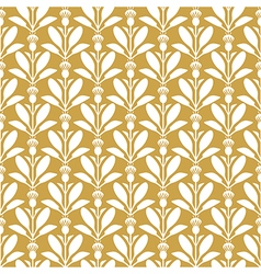Thistle pattern gold vector